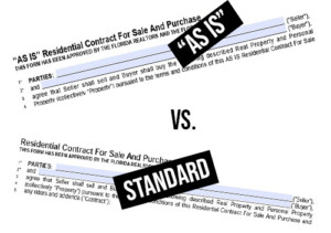 Difference of AS IS Contract from FARBAR Standard Contract