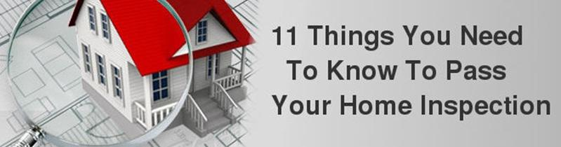How to Pass Your Home Inspection